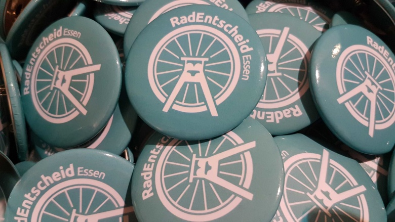 Buttons RadEntscheid Essen