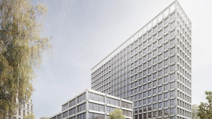 Außenansicht des Siegerbeitrags im Architektenwettbewerb zum BürgerRatHaus. Foto: agn Niederberghaus & Partner GmbH