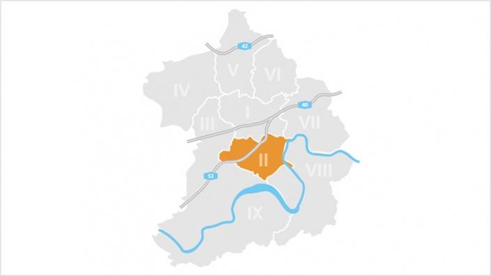 Bezirk II: Rüttenscheid, Bergerhausen, Rellinghausen und Stadtwald