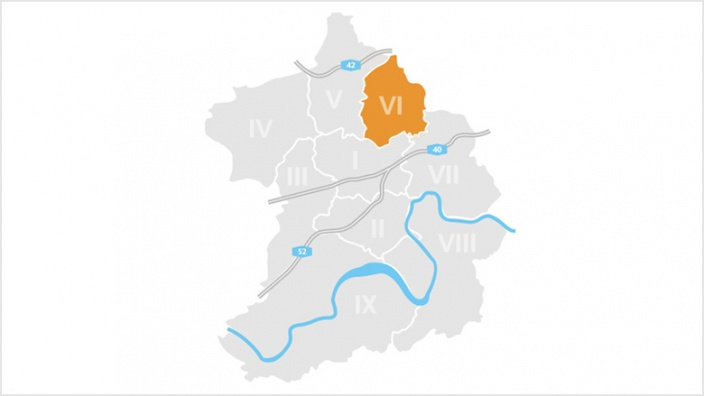 Bezirk VI-Zollverein: Katernberg, Schonnebeck und Stoppenberg