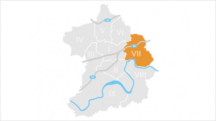 Bezirk VII: Steele und Kray