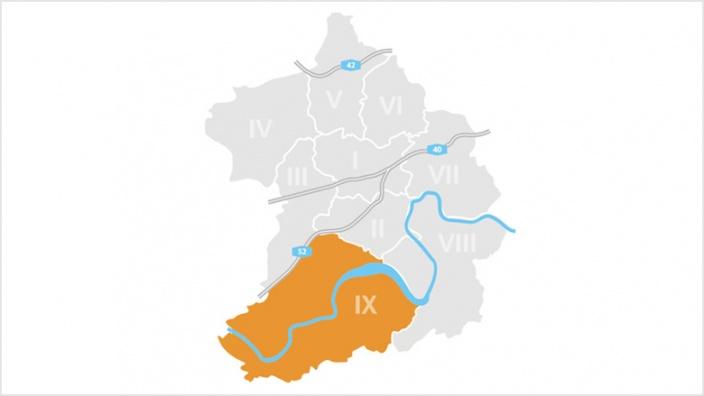 Bezirk IX: Werden, Kettwig und Bredeney