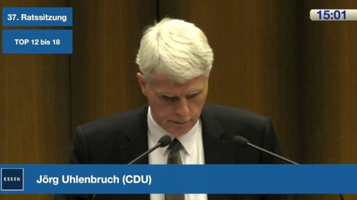 Jörg Uhlenbruch, Ratssitzung im November 2018